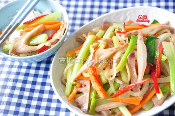 鲜蔬炒凤冠的做法