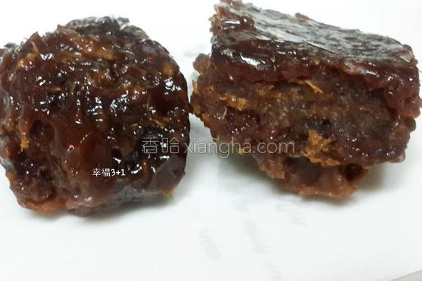 黑糖桂圆生姜茶砖的做法