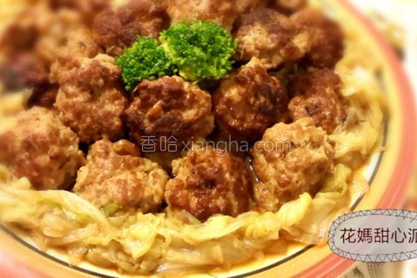 川丸子煨白菜的做法