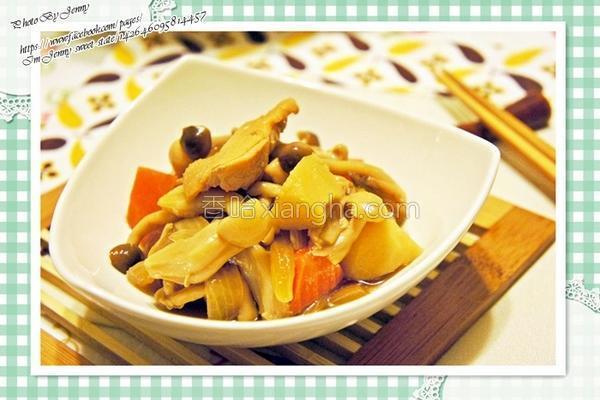 菇菇马铃薯炖鸡肉的做法