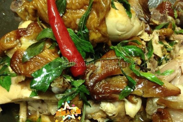 塔香熏鸡的做法