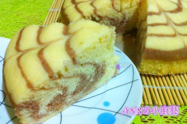 蒸斑马蛋糕的做法