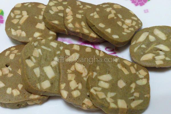 抹茶杏仁饼干的做法