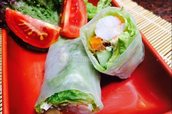 蛋沙拉蔬菜凉卷的做法