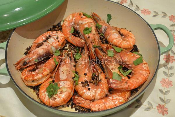 胡椒焗大虾的做法