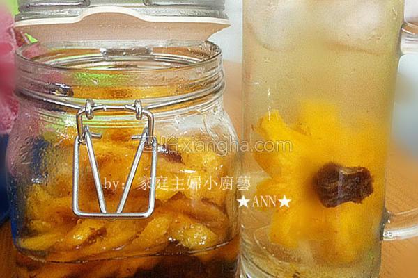 凤梨酸梅饮品的做法
