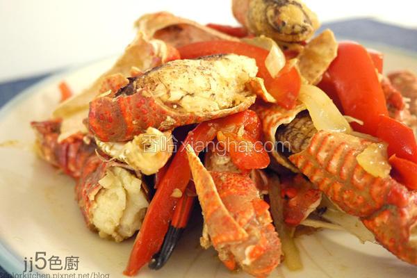 海鲜简易辣炒蟹脚