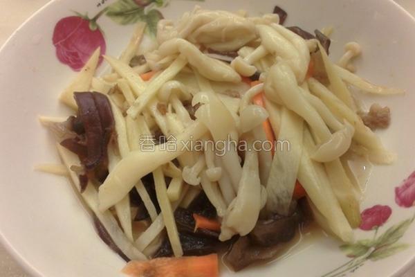 茭白笋炒雪菇的做法