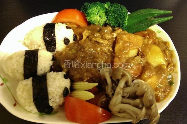 可爱熊猫咖哩