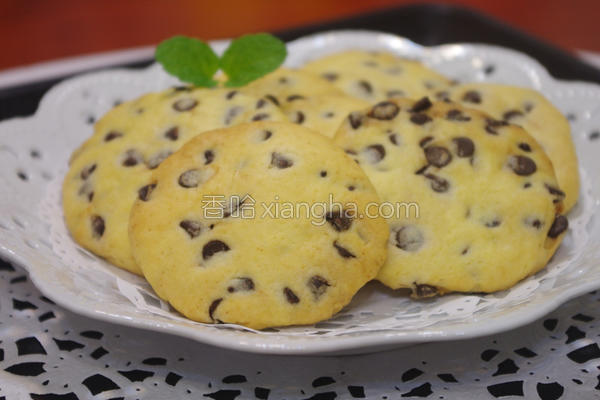 酥酥巧克力豆饼的做法