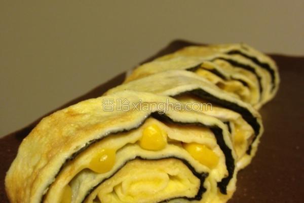 玉米芝士海苔蛋卷的做法