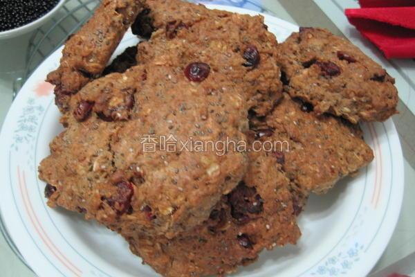 燕麦红莓饼干