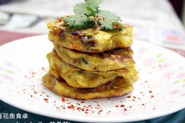 咖哩鲭鱼煎饼的做法