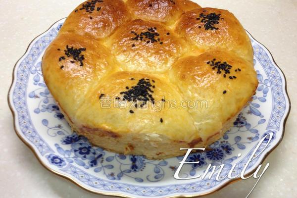 皇冠芋头面包的做法