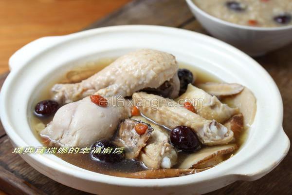 红枣糙米鸡汤的做法