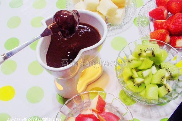 水果巧克力锅的做法