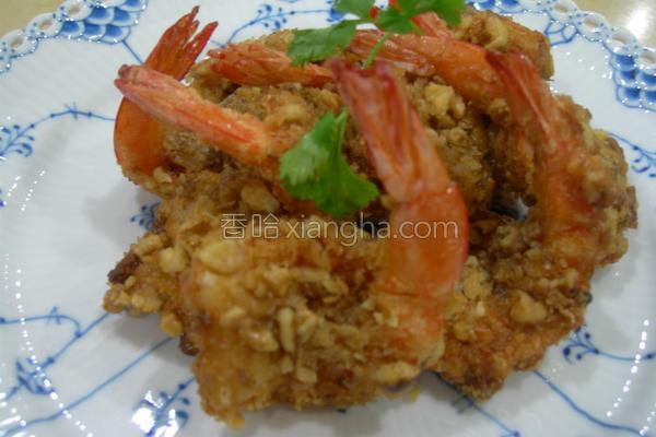 香酥核桃虾的做法
