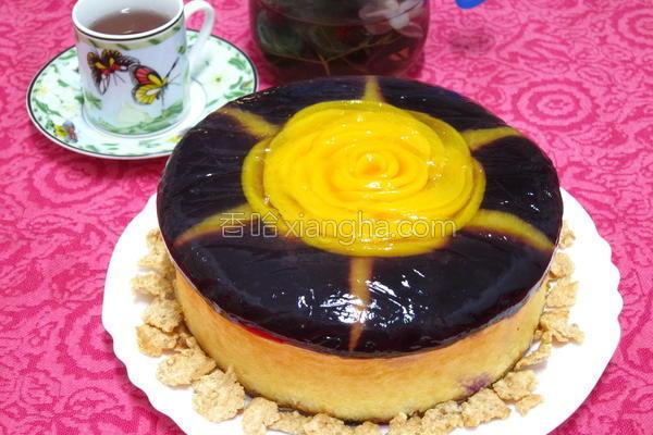 玫瑰花轻乳酪蛋糕的做法