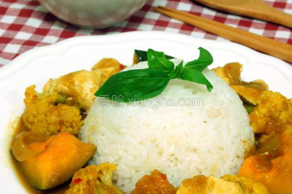 辣味鸡肉咖哩饭的做法