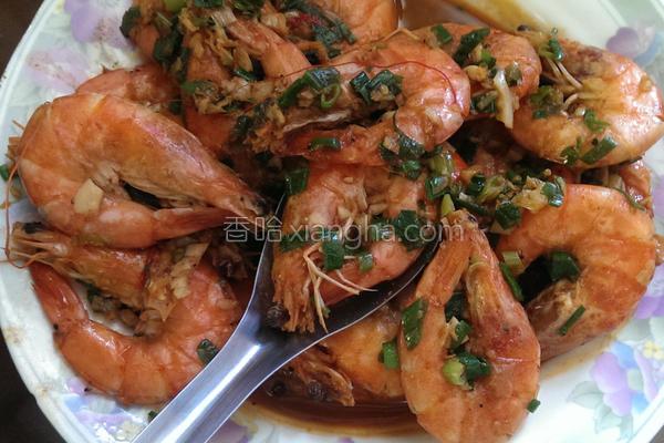 葱爆辣味草虾的做法
