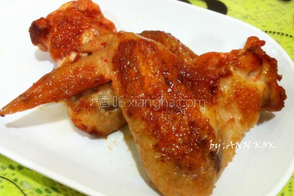 红腐乳煎鸡翅的做法