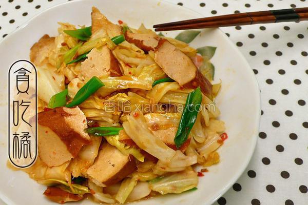 豆瓣香干炒白菜的做法