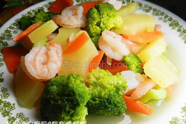凤梨糖醋虾的做法