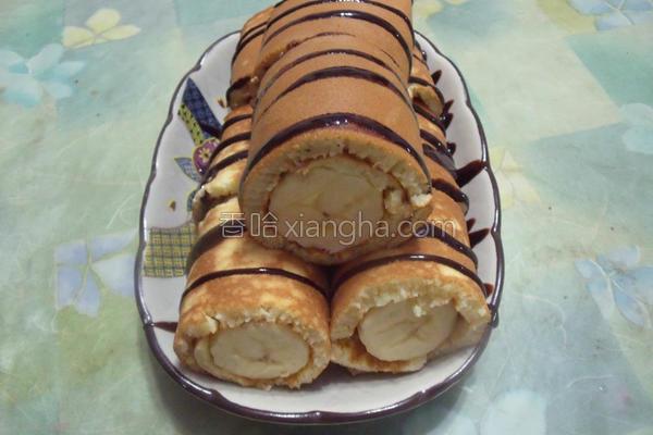 巧克力香蕉卷的做法
