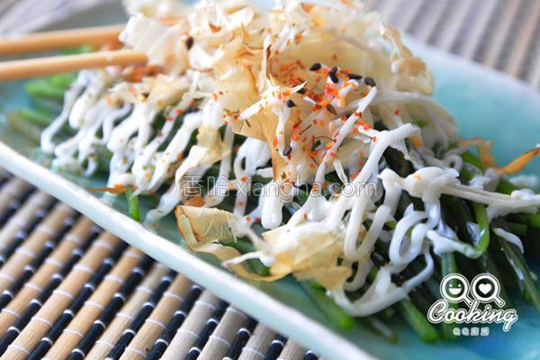 凉拌沙拉水莲的做法