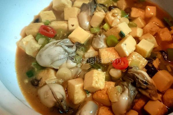 鲜蚵豆腐煲的做法