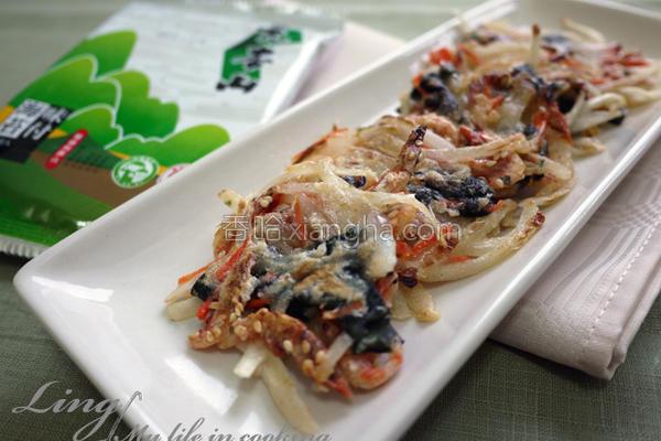 樱花虾海苔煎饼的做法