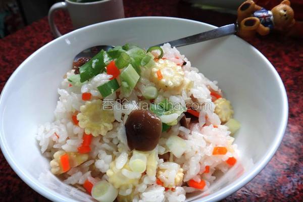 蔬菜炊饭的做法