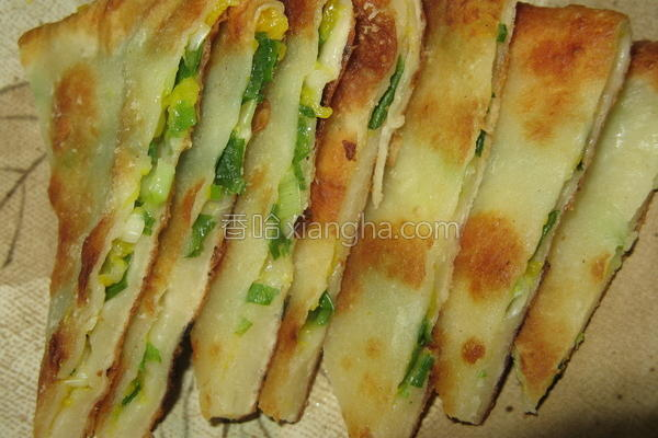 南瓜葱油饼的做法