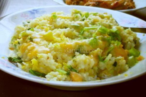 青江菜地瓜炖饭的做法
