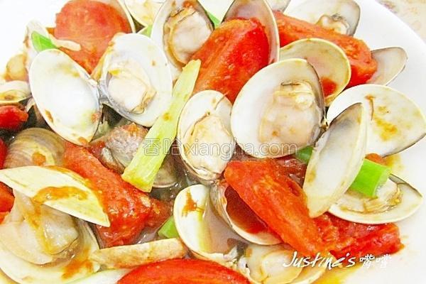 番茄蛤蜊的做法