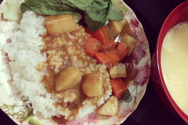 简易咖哩饭✌✌✌的做法