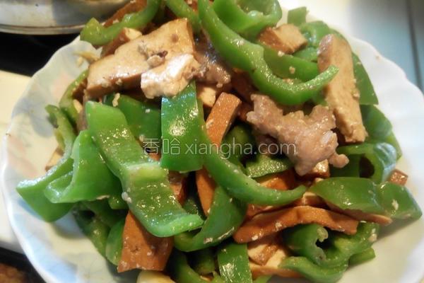 豆干猪肉炒青椒的做法