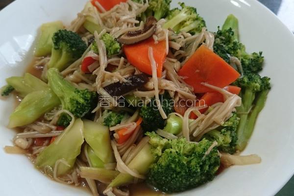 蚝油香菇青花菜的做法