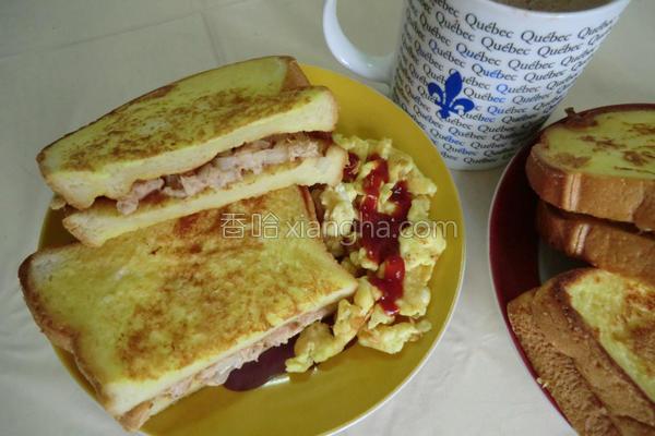 早朝食堂鲔鱼土司的做法