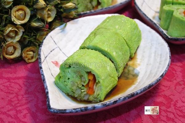 高丽菜翡翠蛋卷的做法