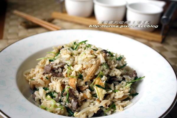 蚝油牛肉鲜蔬炒饭的做法