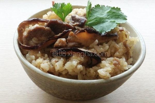 机干冬菇油饭的做法
