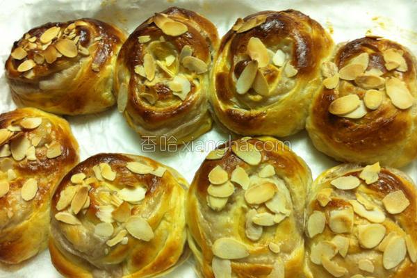 芋泥面包的做法