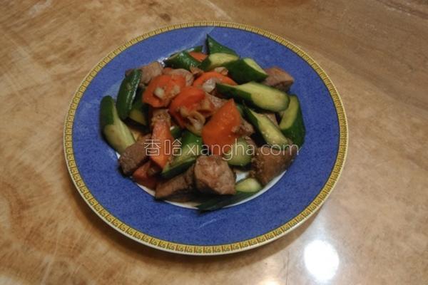 猪肉丁烩鲜蔬的做法