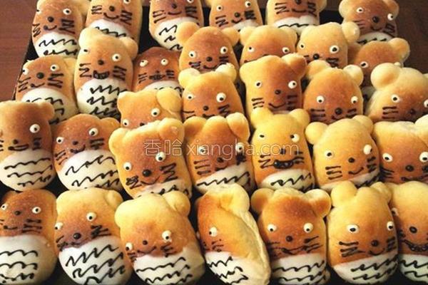 龙猫面包的做法
