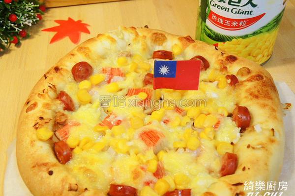 玉米蟹棒芝心披萨的做法