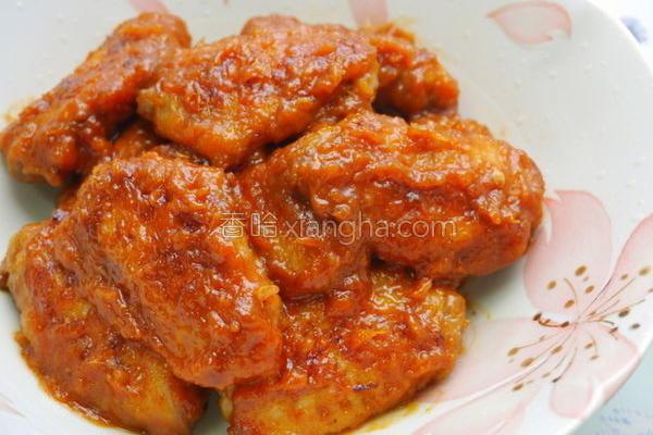 姜汁酱烧鸡翅的做法