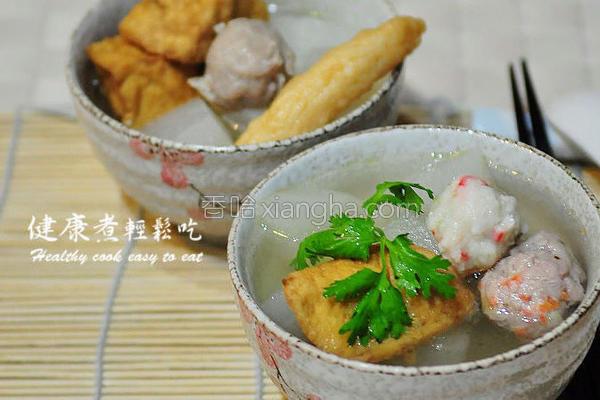 萝卜排骨丸子汤的做法