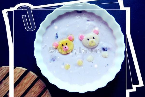 糯米球酸奶的做法