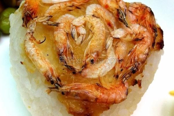 樱花虾味噌烤饭团的做法